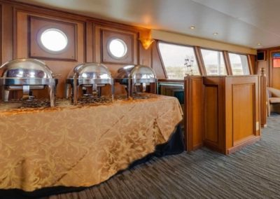 91 Striker party yacht setup for full catering