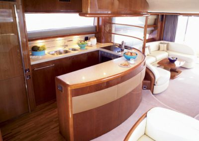60 Viking yacht galley