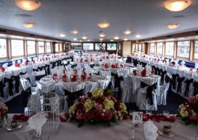 170 Swiftship party yacht custom event specific dining table decoration arrangements