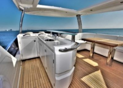 72 Absolute yacht flybridge bar and dining