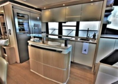 72 Absolute yacht salon and galley