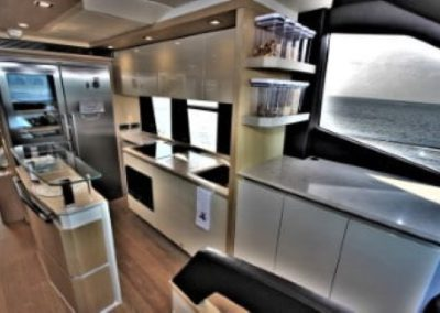 72 Absolute yacht galley