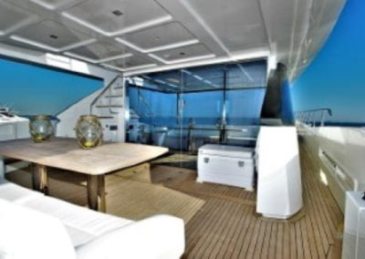 72 Absolute yacht aft deck