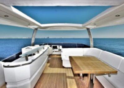 72 Absolute yacht flybridge