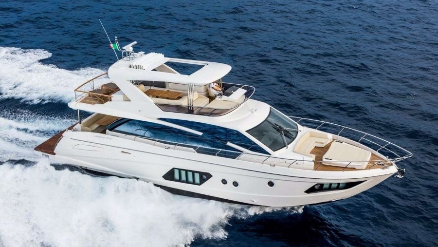 72 Absolute Miami charter yacht