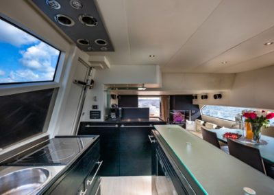 69 Icon yacht galley