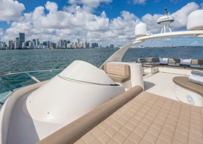69 Icon yacht flybridge