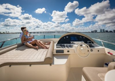 69 Icon yacht flybridge navigation station