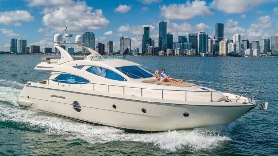 85 Aicon Miami charter yacht