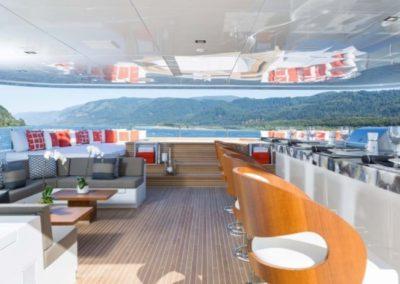 160 Christensen flybridge casual dining