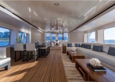 160 Christensen yacht lounge