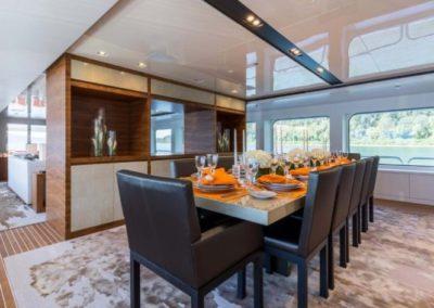 160 Christensen yacht formal dining
