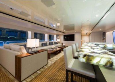 160 Christensen yacht salon bar and lounge