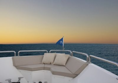 101 Hargrave yacht bow seating