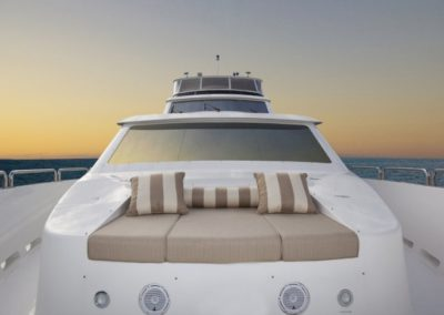 101 Hargrave yacht bow sunpads