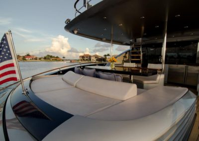 92 Lazzara yacht aft sunpads
