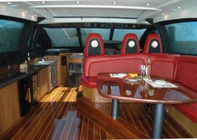 80 Nortech yacht helm and dining