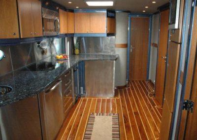 80 Nortech charter yacht galley