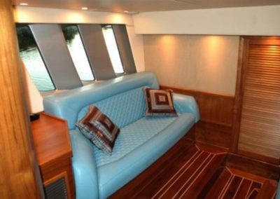 80 Nortech yacht master cabin sofa