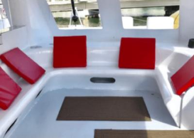 50 Sailing party Catamaran enclosed deck area