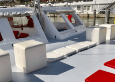 50 Sailing party Catamaran bow seating