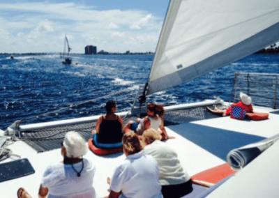 50 Sailing party Catamaran cruising