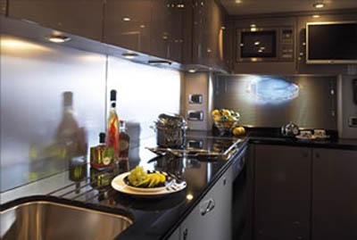 82 Sunseeker yacht galley