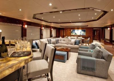 120 Trinity yacht salon and bar