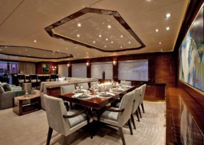 120 Trinity yacht formal dining