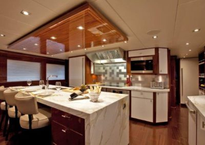 120 Trinity yacht galley dinette