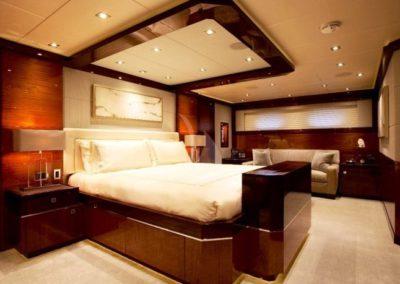 120 Trinity yacht master stateroom with sofa