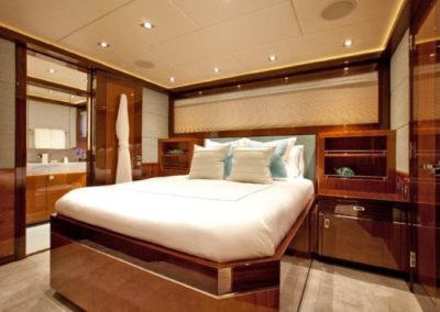 120 Trinity yacht guest stateroom one