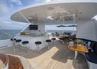 142 Trinity yacht deck while on charter