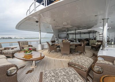 142 Trinity yacht deck space