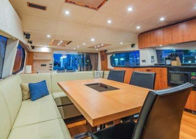 66 Sunseeker yacht salon and galley