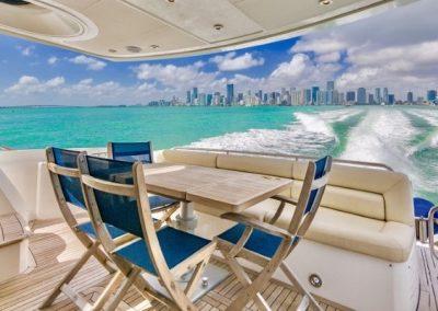 66 Sunseeker yacht aft deck