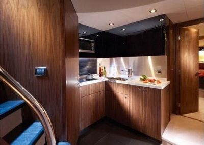 64 Sunseeker yacht galley