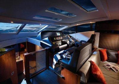 64 Sunseeker yacht helm